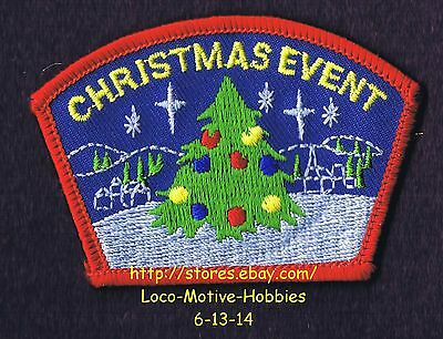 """LMH PATCH Badge  CHRISTMAS EVENT  Tree Lights Snow Stars  Kids Camp Activity  3"""""""