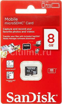 Lot of 10 Genuine 8GB SanDisk Micro SD SDHC 8G TF Memory Card Class 4 Retail
