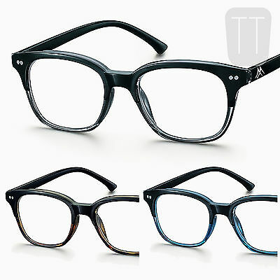 New Large Full Lens Rimmed Reading Glasses - Sprung Hinge +1+1.5+2.0+2.5+3+3.5