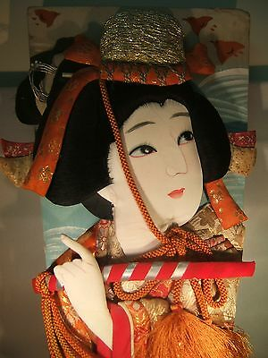Antique-Hagoita Battledore Paddle-Oshie Hand Painted-Early1900's-Japan New Year