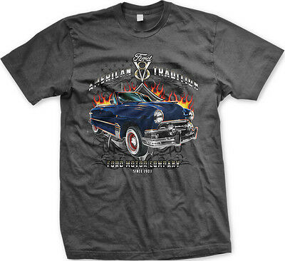 American Tradition V8 Ford Motor Company Car USA FREE SHIPPING New Mens T-shirt