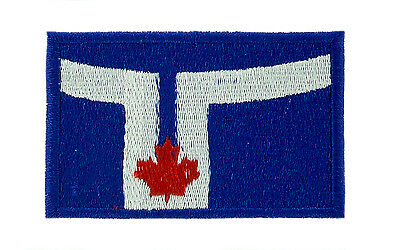 Patch Embroidered Flag Canada Canadian Thermoadhesive Backpack Bag IN Back 3x5