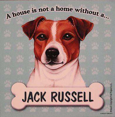 Jack Russell Magnet Dog Car RV A House Is Not A Home Puppy Refrigerator