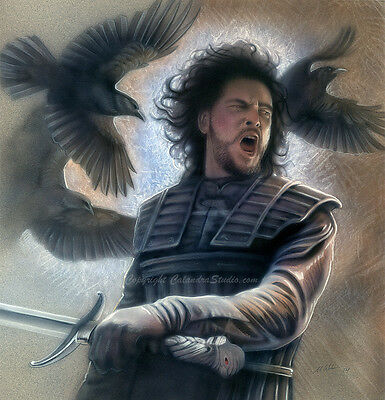 """Jon Snow"" Original Calandra Airbrush Art"