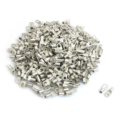 1000Pcs RNB3.5-4 14-12 AWG Non-insulated Ring Terminals Connector 3.1mm x 4.6mm.