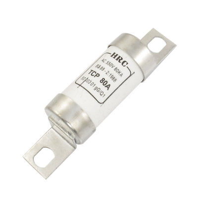 TCP AC 550V 80A White Ceramic Tube Cylindrical Fast Blow Fuse Link