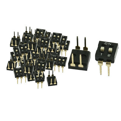 70 Pcs 2.54mm Pitch 2 Position Slide Type DIP Switches