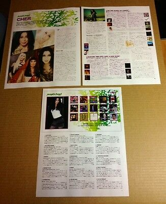 2013 Cher 4pg 8 photo JAPAN mag article / clippings cuttings