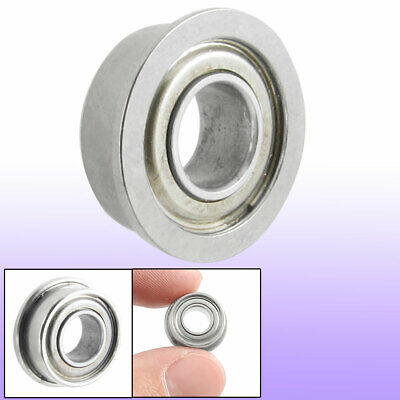 13mm x 6mm x 5mm Radial Shielded Deep Groove Flanged Ball Bearing Silver Tone