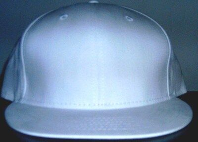 Pure White 100% cotton   7 1/2   Hat Fitted  by Headgear starco FREE S&H