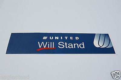 Baggage Label - United - Will Stand - Long Sticker (BL532)