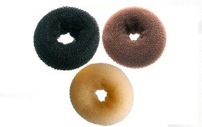Bun Rings Medium Size Setting Styling Hair Rolling & Curling. Choice of colours