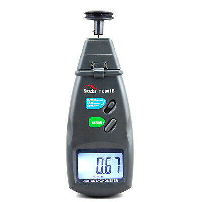 Digital Laser Photo Tachometer Non & Contact Tach f. Engine Motor Industrial RPM