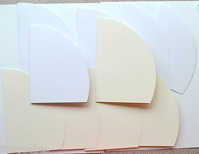 10 White/Cream Single Fold Super Smooth ARC Cards & Match Envs 164 x 125mm New