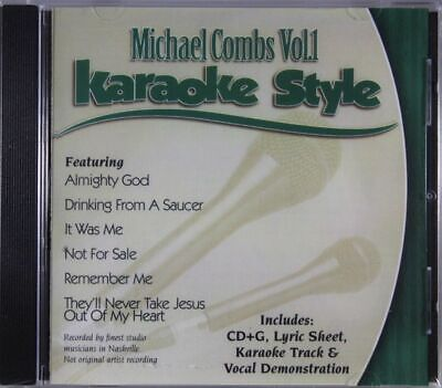 Michael Combs Volume 1 Christian Karaoke Style NEW CD+G Daywind 6 Songs