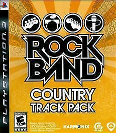 Rock Band Track Pack: Country SONY PLAYSTATION 3 PS3 video game COMPLETE