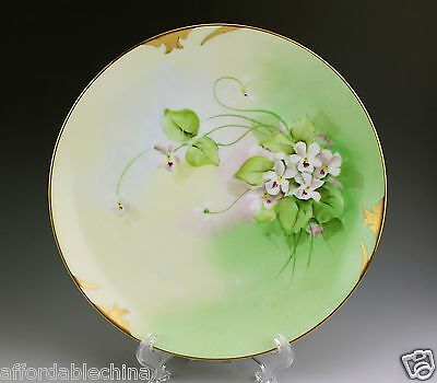 Pickard Decorated White Floral Gold Plate