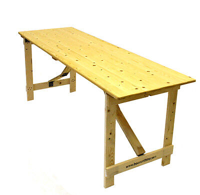 New 6' x 2'6'' Wooden trestle table folds flat, DIY Table, Exhibition Tables