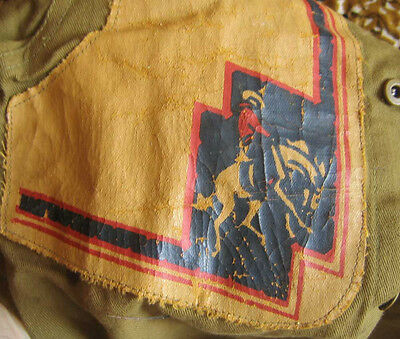 Vtg 1930's Boys Cowboy Costume Chaps And Shirt Belt Feather Indian Headress