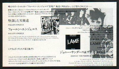 1984 Johnny Thunders D.T.K. Live at The Speakeasy JAPAN promo ad / advert /T.Rex
