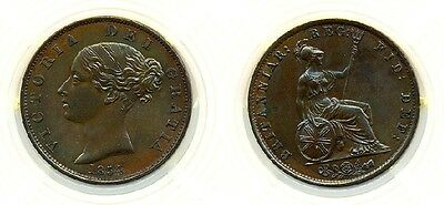 Uk Great Britain Coin 1/2 Penny 1854  Uncirculated