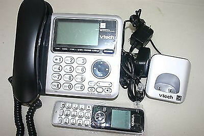 VTECH CS6649-2 Digital Answering System Corded Base and Cordless Handset