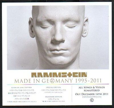 2012 Rammstein Made In Germany 1995-2011 JAPAN promo ad / advert / clipping r01r