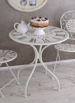 FRENCH GARDEN TABLE VINTAGE IRON TABLE SHABBY CHIC TABLE ROUND