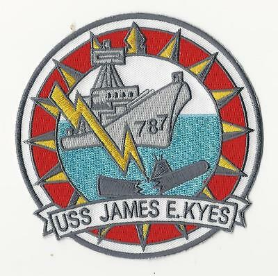 Us Navy Patch - Dd 787 Uss James E. Kyes - Navy Cross Recipient