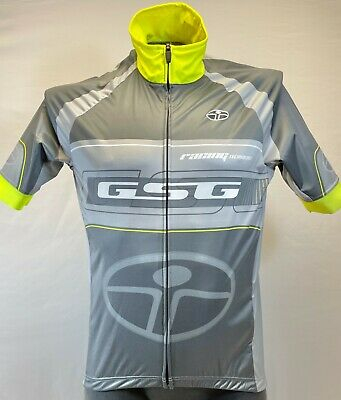 Elite Interpower CYCLING SHORT SLEEVE JERSEY Made in Italy by GSG Neon Yellow