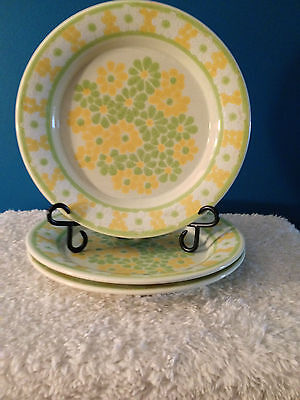 """Franciscan China """"Picnic"""" Pattern 10-3/4"""" Dinner Plates  (3)  - Discontinued-"""