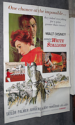 MIRACLE OF THE WHITE STALLIONS/LIPPIZANERS orig 1sht movie poster ROBERT TAYLOR