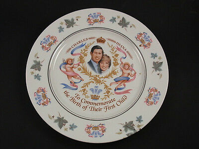 """Royal Sutherland 1982 Birth Of Prince William 10"""" Collectors Plate Charles Diana"""