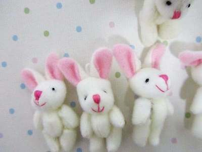 10 Craft Mini Bunny 5mm Applique/cute doll/Pink Ear/Easter/cute/baby H139-Rabbit