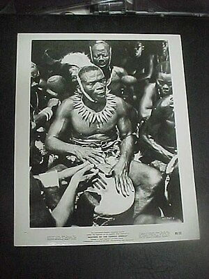 MASTERS OF THE CONGO JUNGLE, orig 8x10 [A drummer with a different beat!!]]