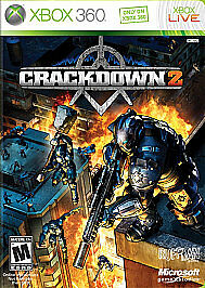 Crackdown 2 w/ Official Game Guide XBOX 360 video game COMPLETE CIB