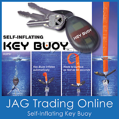 SELF-INFLATING KEY BUOY FLOATING BOAT KEYRING - Float/Marine/Water/Keychain/Ring