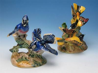 Beswick China - Bird Figurine - Pair American Blue Jays 925