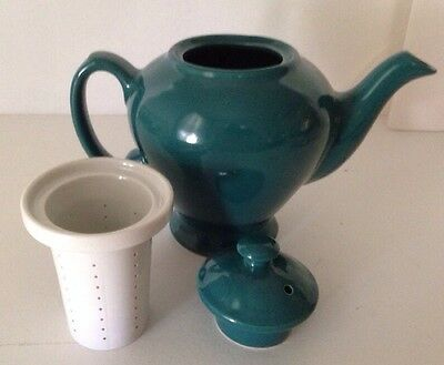 Vintage McCormick Tea Green/Teal Teapot with Infuser & Lid Baltimore MD USA