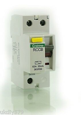 Crabtree RCD StarBreaker 63A 30mA RCD 363/030 230V 2 Pole * Free Delivery & VAT