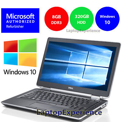 DELL LATITUDE E6430 LAPTOP WINDOWS 10 WIN DVD INTEL i5 2.5GHz 8GB 320GB HD HDMI