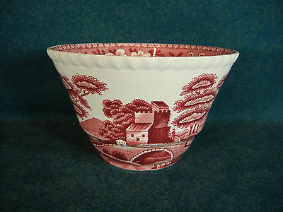 Copeland Spode Pink Tower Pattern Old Mark  Rice / Cranberry Bowl