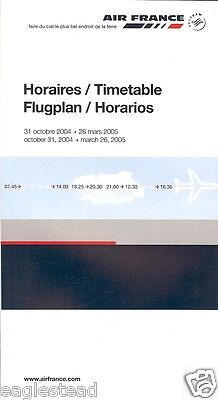 Airline Timetable - Air France - 31/10/04 - OW