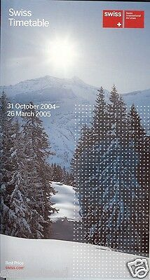 Airline Timetable - Swiss International Air Lines - 31/10/04