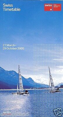 Airline Timetable - Swiss International Air Lines - 27/03/05