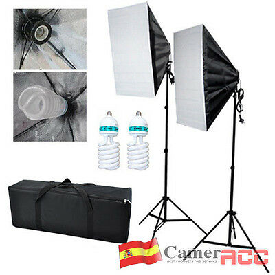 Kit iluminación Estudio fotográfico Set 2x Lámpara Softbox luz continua