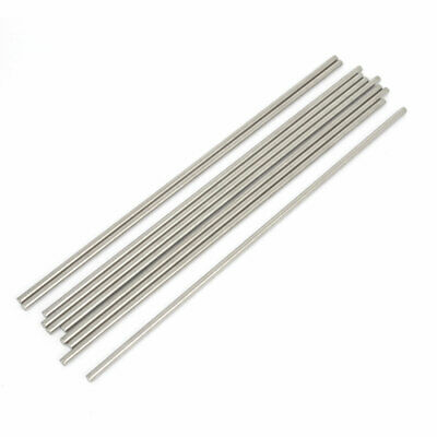 10 Pcs RC Airplane Model Part Stainless Steel Round Rods Axles Bars 3mm x 170mm