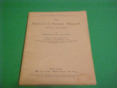 1903 THE LEGEND OF SLEEPY HOLLOW BOOKLET COMPLETE COURSE IN THE STUDY OF ENGLISH