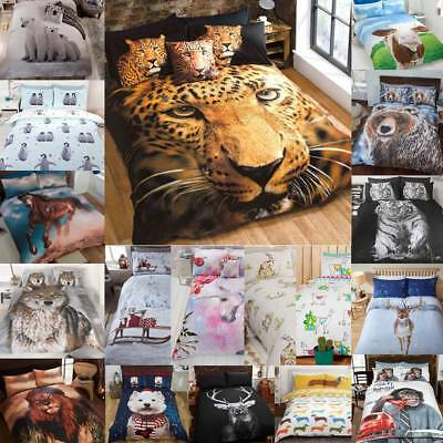 Animal Photographic Print Duvet Quilt Cover Bedding Set & Pillowcases from £9.99
