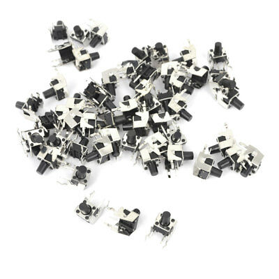 55 Pcs DIP PCB Fixed Bracket Sied Mounting Tact Switch Momentary 6x6x8mm